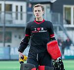 BLOEMENDAAL  -  keeper Joriaan Collombon (Nijmegen)  , competitiewedstrijd junioren  landelijk  Bloemendaal JA1-Nijmegen JA1 (2-2) . COPYRIGHT KOEN SUYK