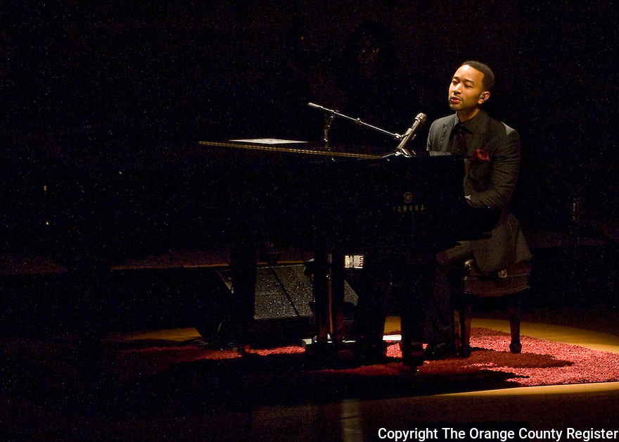 John Legend performing at the Rene and Henry Segerstrom Concert Hall on 4/2/14