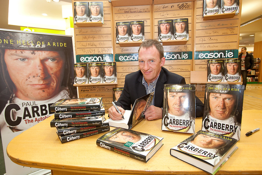 NO REPRO FEE.8/10/2011. Eason, Ireland's leading retailer of books, stationery, magazines and lots more, hosted a book signing by Jockey, Paul Carberry.  Pictured at Eason, O'Connell Street, Dublin is Paul Carberry who signed copies of his new autobiography One Hell of a Ride. Follow Eason on Twitter - @easons For further information, please contact: Aoife McDonald WHPR 087 4100777 . Picture James Horan/Collins Photos