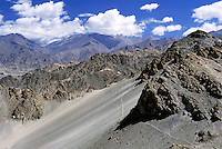 Mountainous landscape of the Himalayas, Leh, Ladakh, India.