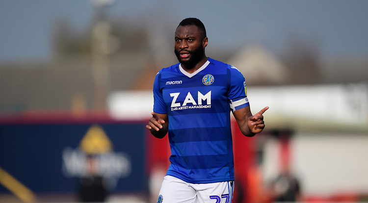 Macclesfield Town's Nathan Cameron<br /> <br /> Photographer Chris Vaughan/CameraSport<br /> <br /> The EFL Sky Bet League Two - Lincoln City v Macclesfield Town - Saturday 30th March 2019 - Sincil Bank - Lincoln<br /> <br /> World Copyright © 2019 CameraSport. All rights reserved. 43 Linden Ave. Countesthorpe. Leicester. England. LE8 5PG - Tel: +44 (0) 116 277 4147 - admin@camerasport.com - www.camerasport.com