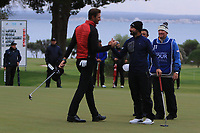 Sebastian Heisele (GER) congratulates Francesco Laporta (ITA) on winning the Challenge Tour Grand Final 2019 at Club de Golf Alcanada, Port d'Alcúdia, Mallorca, Spain on Sunday 10th November 2019.<br /> Picture:  Thos Caffrey / Golffile<br /> <br /> All photo usage must carry mandatory copyright credit (© Golffile | Thos Caffrey)