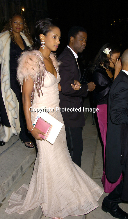 Chris Rock and wife Maalak ..at the Wedding of Star Jones and Al Reynolds on November 13, 2004 at St Barts Church in New York City. ..Photo by Robin Platzer, Twin Images