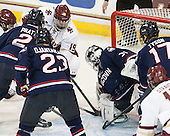 Derek Pratt (UConn - 2), Kasperi Ojantakanen (UConn - 23), Ryan Fitzgerald (BC - 19), Rob Nichols (UConn - 31), Ryan Tyson (UConn - 17) - The Boston College Eagles defeated the visiting University of Connecticut Huskies 3-2 on Saturday, January 24, 2015, at Kelley Rink in Conte Forum in Chestnut Hill, Massachusetts.