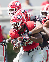 Athens, GA - April 22, 2017: The Georgia Bulldogs G-day Spring practice at Sanford Stadium.