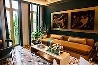 The Kips Bay Decorator Show House invited twenty one designers and architects to transform a luxury Manhattan townhouse for a benefit to the Kips Bay Boys &amp; Girls Club. <br /> <br /> Pictured, design by Sawyer/Bernson Architecture &amp; Landscape Architecture<br /> <br /> <br /> Danny Ghitis for The New York Times