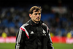 Real Madrid´s goalkeeper Iker Casillas during 2014-15 La Liga match between Real Madrid and Levante UD at Santiago Bernabeu stadium in Madrid, Spain. March 15, 2015. (ALTERPHOTOS/Luis Fernandez)