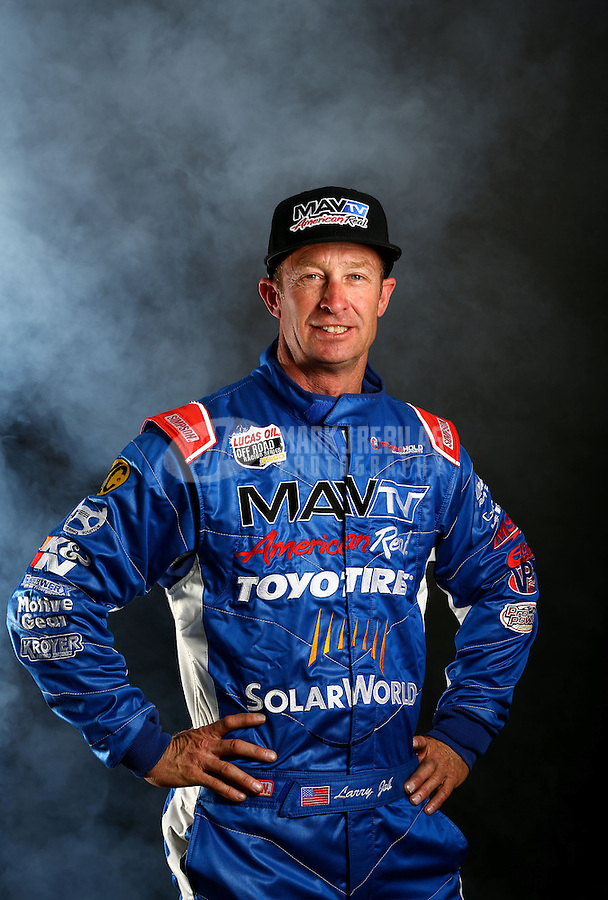 Mar. 21, 2014; Chandler, AZ, USA; LOORRS pro buggy driver Larry Job poses for a portrait prior to round one at Wild Horse Motorsports Park. Mandatory Credit: Mark J. Rebilas-USA TODAY Sports