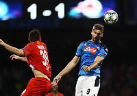 5th November 2019; Stadio San Paolo, Naples, Campania, Italy; UEFA Champions League Group Stage Football, Napoli versus Red Bull Salzburg; Fernando Llorente  of Napoli wins a header in the box - Editorial Use