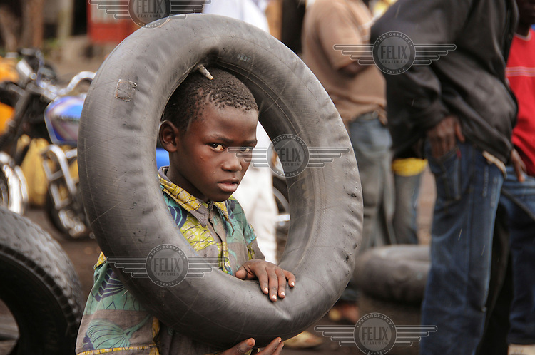 A child at the Kibati IDP (Internally Displaced Persons) camp.