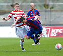 ::  SHANE SUTHERLAND IS BROUGHT DOWN BY HAMILTON'S DAVID HOPKIRK ::.14/05/2011  sct_jsp010_hamilton_v_ict  .Copyright  Pic : James Stewart.James Stewart Photography 19 Carronlea Drive, Falkirk. FK2 8DN      Vat Reg No. 607 6932 25.Telephone      : +44 (0)1324 570291 .Mobile              : +44 (0)7721 416997.E-mail  :  jim@jspa.co.uk.If you require further information then contact Jim Stewart on any of the numbers above.........