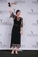 NEW YORK, NY 21.11.2016 - EMMY-2016 -  Christiane Paul durante tapete vermelho do Emmy Internacional 2016 prêmio dos melhores atores e novelas da TV, em Nova York, nos Estados Unidos na noite desta segunda-feira, 21. (Foto: Vanessa Carvalho/Brazil Photo Press)