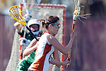 Santa Barbara, CA 02/13/10 - Alina Daszkowski (Texas #8) in action during the Texas-Oregon game at the 2010 Santa Barbara Shoutout, Texas defeated Oregon 11-9.