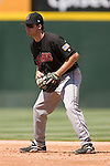 Indianapolis Indians second baseman Craig Stansberry on defense versus the Charlotte Knights at Knights Stadium in Fort Mill, SC, Sunday, August 13, 2006.