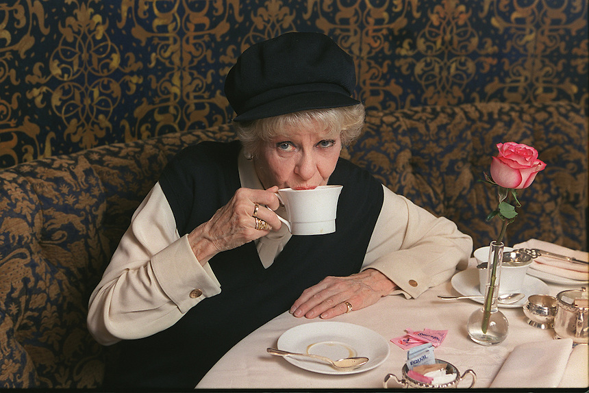 "ELAINE STRITCH at the Carlyle Hotel.  After successful runs of her show, ""Elaine Stritch At Liberty"" off-Broadway, on Broadway (Tony Award), and in London, she is taking it on the road, with a first stop in LA..35 E. 76 St., NYC.Newsday/ARI MINTZ 3/12/2003"