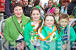 Enjoying the Killarney St Patricks Day parade on Sunday was l-r:Breide McGillicuddy, Shirley Monas, Laura McDonnagh, and Kevin Lohan..