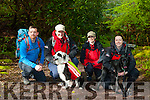 PJ McAulliffe Kerry Mountain rescue in search of casualties with the sniffer dog unit an their leaders Suzanne Flynn, Annette O'Callaghan and Maria O'Connor at the emernency exercise drill at Torc Killarney on Saturday