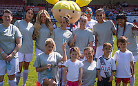 The Womens Team during the 'Greatest Show on Turf' Celebrity Event - Once in a Blue Moon Events at the London Borough of Barking and Dagenham Stadium, London, England on 8 May 2016. Photo by Kevin Prescod / PRiME Media Images.