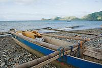 Fishing boats on the beach at Dili, Timor-Leste (East Timor)