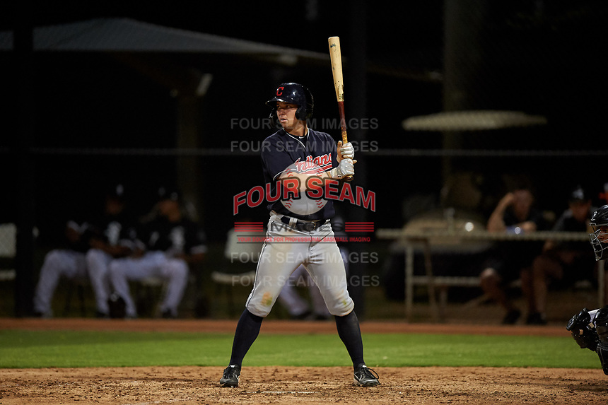 AZL Indians Blue Will Brennan (30) at bat during an Arizona League game against the AZL White Sox on July 2, 2019 at Camelback Ranch in Glendale, Arizona. The AZL Indians Blue defeated the AZL White Sox 10-8. (Zachary Lucy/Four Seam Images)