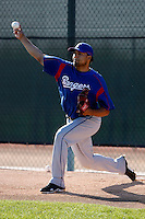 JB Diaz  - Texas Rangers - 2009 spring training.Photo by:  Bill Mitchell/Four Seam Images