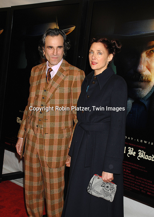 """Daniel Day-Lewis and wife Rebecca Miller.arriving at the New York Premiere of """"There Will Be Blood"""".on December 10, 2007 at The Ziegfeld Theatre in New York. Paul Thomas Anderson directed the movie which .stars Daniel Day-Lewis. .Robin Platzer, Twin Images"""