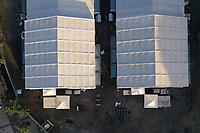Rio de Janeiro (RJ), 18/04/2020 - Hospital-Rio - O Maracana e o local do maior hospital de campanha sendo construido no Rio de Janeiro para tratar pacientes do novo coronavirus construido no local no espaco onde ficava o estadio de Atletismo Celio de Barros, no Complexo do Maracana, na Zona Norte do Rio, neste sabado. (Foto: Andre Fabiano/Codigo 19/Codigo 19)