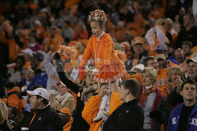 Tennessee fans show their support as the University of Kentucky Wildcats take on the University of Tennessee Volunteers on Saturday, Nov. 28, 2009 at Commonwealth Stadium. The Cats were ahead of the Vols 21-14 at the half.