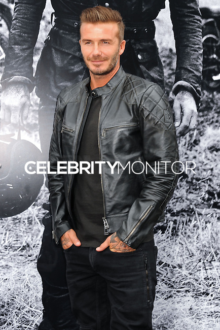 NEW YORK CITY, NY, USA - SEPTEMBER 09: David Beckham arrives at the 'Belstaff: Off Road/David Beckham' Book Signing held at the Belstaff House on September 9, 2014 in New York City, New York, United States. (Photo by Celebrity Monitor)