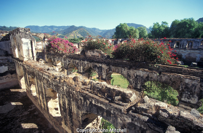 The ruins of the San Francisco Monastery or Convento de San Francisco el Grande in the Spanish Colonial city of Antigua, Guatemala