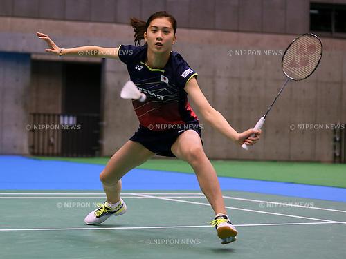 Aya Ohori (JPN), SEPTEMBER 8, 2015 - Badminton : Yonex Open Japan 2015 Women's Singles Qualification at Tokyo Metropolitan Gymnasium, Tokyo, Japan. (Photo by Sho Tamura/AFLO SPORT)