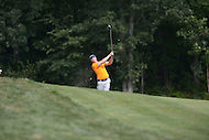 Gainesville, VA - August 2, 2015: Ricky Barnes hits a shot out of the rough on 17 at the Robert Trent Jones Golf Club in Gainesville, VA. August 2, 2015.  (Photo by Philip Peters/Media Images International)