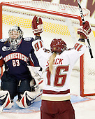 Kelli Stack (BC - 16) scored the opening goal on Alexandra Garcia (UConn - 83). - The Boston College Eagles defeated the visiting University of Connecticut Huskies 3-0 on Sunday, October 31, 2010, at Conte Forum in Chestnut Hill, Massachusetts.