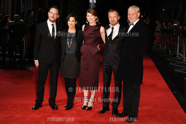 "Glenn Leyburn, Lisa Barros d'Sa, and actors, Jodie Whittaker, Richard Dormer and Terri Hooley at the premiere of ""Good Vibrations"" being shown as part of the London Film Festival 2012, Odeon Leicester Square, London. 19/10/2012 Picture by: Steve Vas / Featureflash"