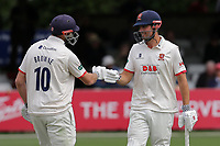 Nick Browne (L) and Alastair Cook of Essex during Essex CCC vs Kent CCC, Specsavers County Championship Division 1 Cricket at The Cloudfm County Ground on 29th May 2019