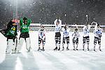 Uppsala 2014-01-12 Bandy  IK Sirius - GAIS Bandy :  <br /> GAIS Bandy spelare jublar efter slutsignalen<br /> (Foto: Kenta J&ouml;nsson) Nyckelord:  jubel gl&auml;dje lycka glad happy