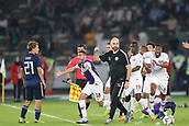 February 1st 2019; Adu Dhabi, United Arab Emirates; Asian Cup football final, Japan versus Qatar;  Players of Qatar celebrate after the final match