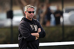 22 March 2015: Wake Forest head coach Tony Bresky. The Duke University Blue Devils hosted the Wake Forest University Demon Deacons at Ambler Stadium in Durham, North Carolina in a 2014-15 NCAA Division I Men's Tennis match. Duke won the match 4-3.