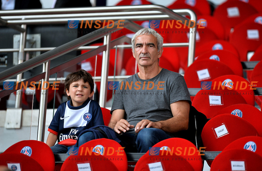 Raymond Domenech et son fils <br /> Football Calcio 2013/2014<br /> Ligue 1 Francia<br /> Foto Panoramic / Insidefoto <br /> ITALY ONLY