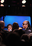 Aretha Franklin & Stevie Wonder.onstage during the BET Honors 2012 at the Warner Theatre on January 14, 2012 in Washington, DC.