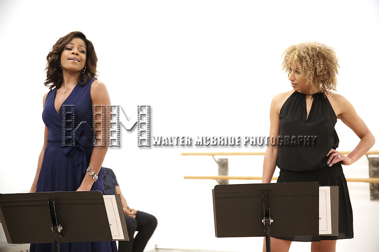 """Nicole Henry and Lana Gordon During the Open Rehearsal for the Miami New Drama's World Premiere Musical  """"A Wonderful World"""" at the Ripley-Grier Studios on January 26, 2020 in New York City."""
