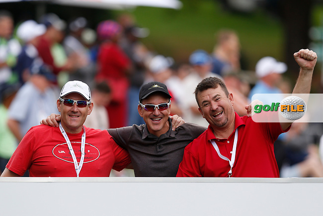 Enjoying themselves during the final round of the SA Open, Randpark Golf Club, Johannesburg, Gauteng, South Africa. 8/12/18<br /> Picture: Golffile | Tyrone Winfield<br /> <br /> <br /> All photo usage must carry mandatory copyright credit (&copy; Golffile | Tyrone Winfield)