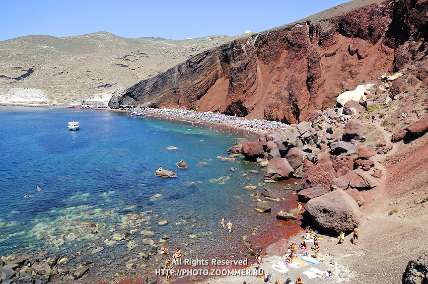 Red beach in Akrotiri, Thira (Santorini)