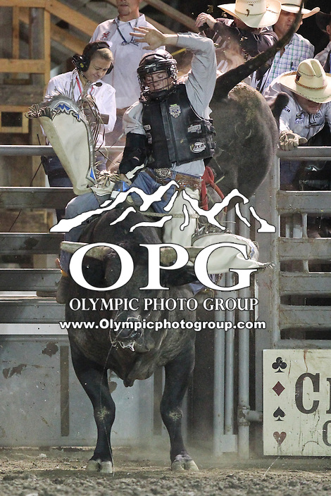 2013-08-21: Dustin Smith was not able to score during the Kitsap County Stampede & Xtreme Bulls finals competition in Bremerton, Washington.