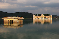 Submerged buildings in a lake in the pink city of Jaipur, Rajasthan, India..Photo by Suzanne Lee