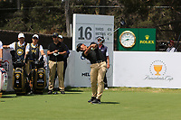 C.T. Pan (International) on the 16th tee during the First Round - Four Ball of the Presidents Cup 2019, Royal Melbourne Golf Club, Melbourne, Victoria, Australia. 12/12/2019.<br /> Picture Thos Caffrey / Golffile.ie<br /> <br /> All photo usage must carry mandatory copyright credit (© Golffile | Thos Caffrey)