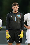 24 September 2013: North Carolina's Brendan Moore. The University of North Carolina Tar Heels hosted the College of William and Mary Tribe at Fetzer Field in Chapel Hill, NC in a 2013 NCAA Division I Men's Soccer match. William and Mary won the game 1-0.
