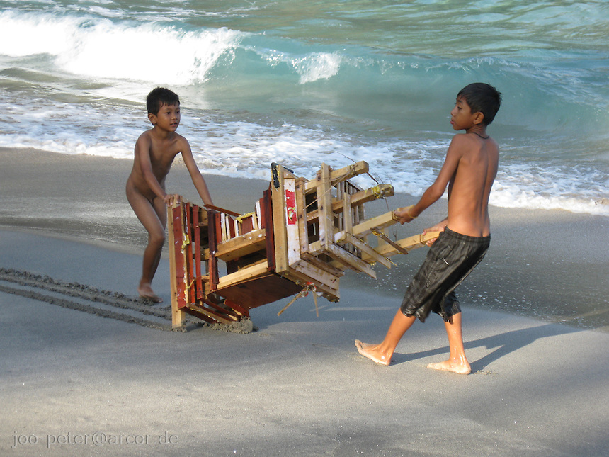 beach at south West coast, Bali, archipelago Indonesia