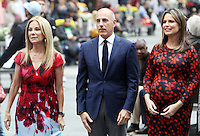NEW YORK, NY-September 28:Kathie Lee Giffortd, Matt Lauer,Savannah Guthrie,  at  Today Show Commerical at 30 Rockefeller  Center Plaza in New York. September 28, 2016. Credit:RW/MediaPunch