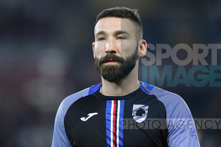 Lorenzo Tonelli of Sampdoria during the Serie A match at Stadio Grande Torino, Turin. Picture date: 8th February 2020. Picture credit should read: Jonathan Moscrop/Sportimage